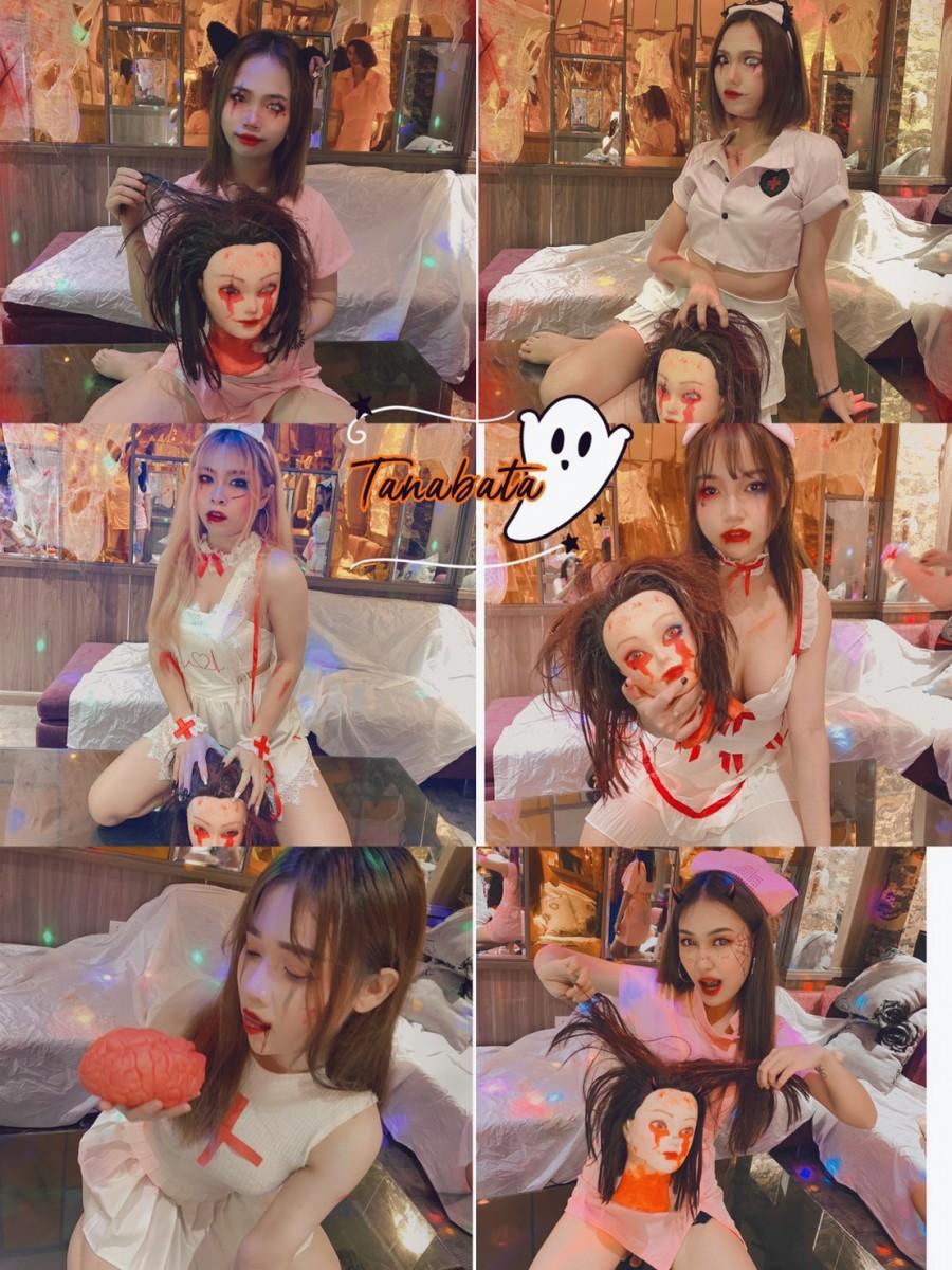 những cô y tá xinh đẹp trong đêm Halloween tại Tanabata